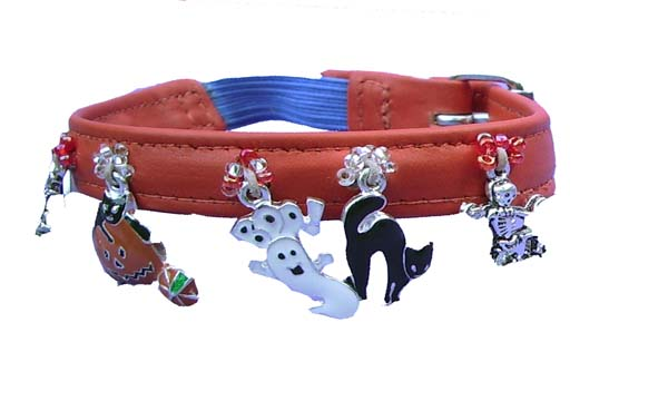 Spooky Cat! - Holly & Lil Collars Handmade in Britain, Leather dog collars, leads & Dog harnesses.